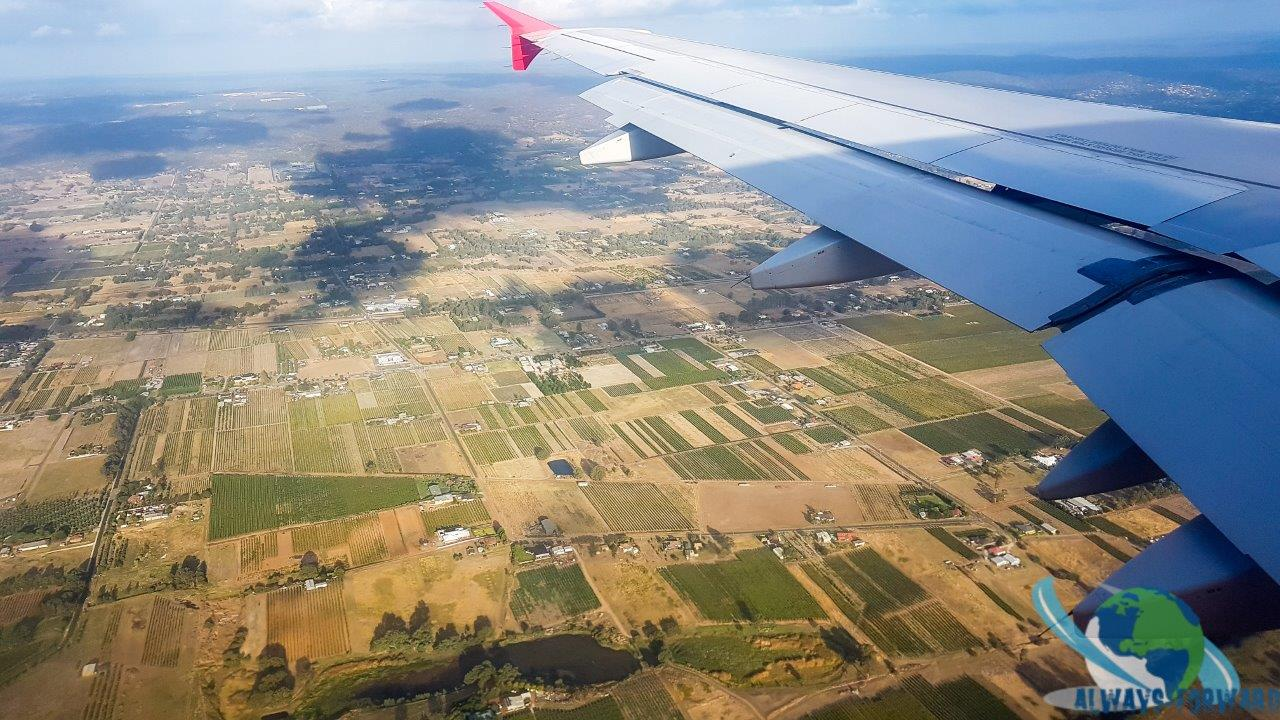 anflug auf Perth