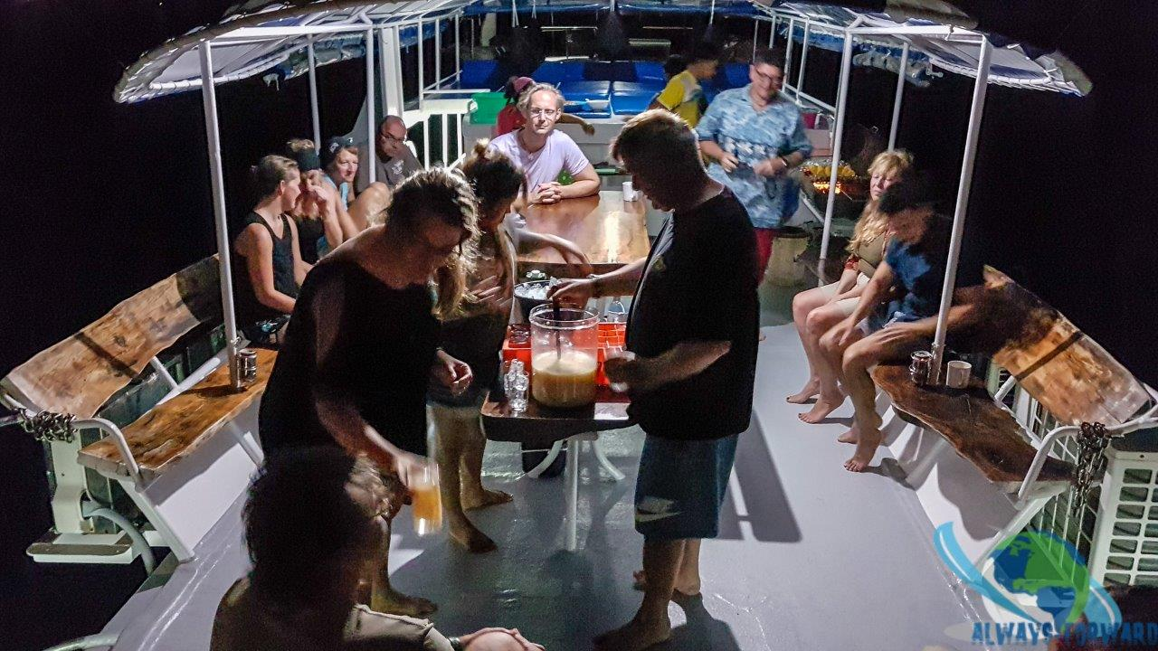 Cocktailparty am letzten Abend