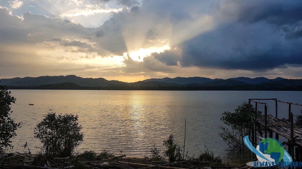 Sonneuntergang über Myanmar