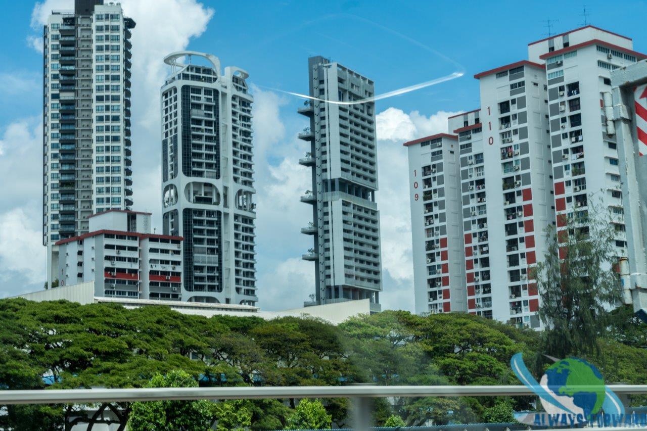 Hochhäuser der Stadt