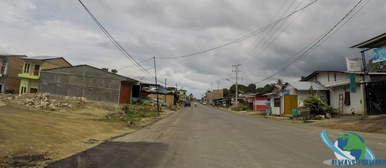 typisches Dorf in Sumatra