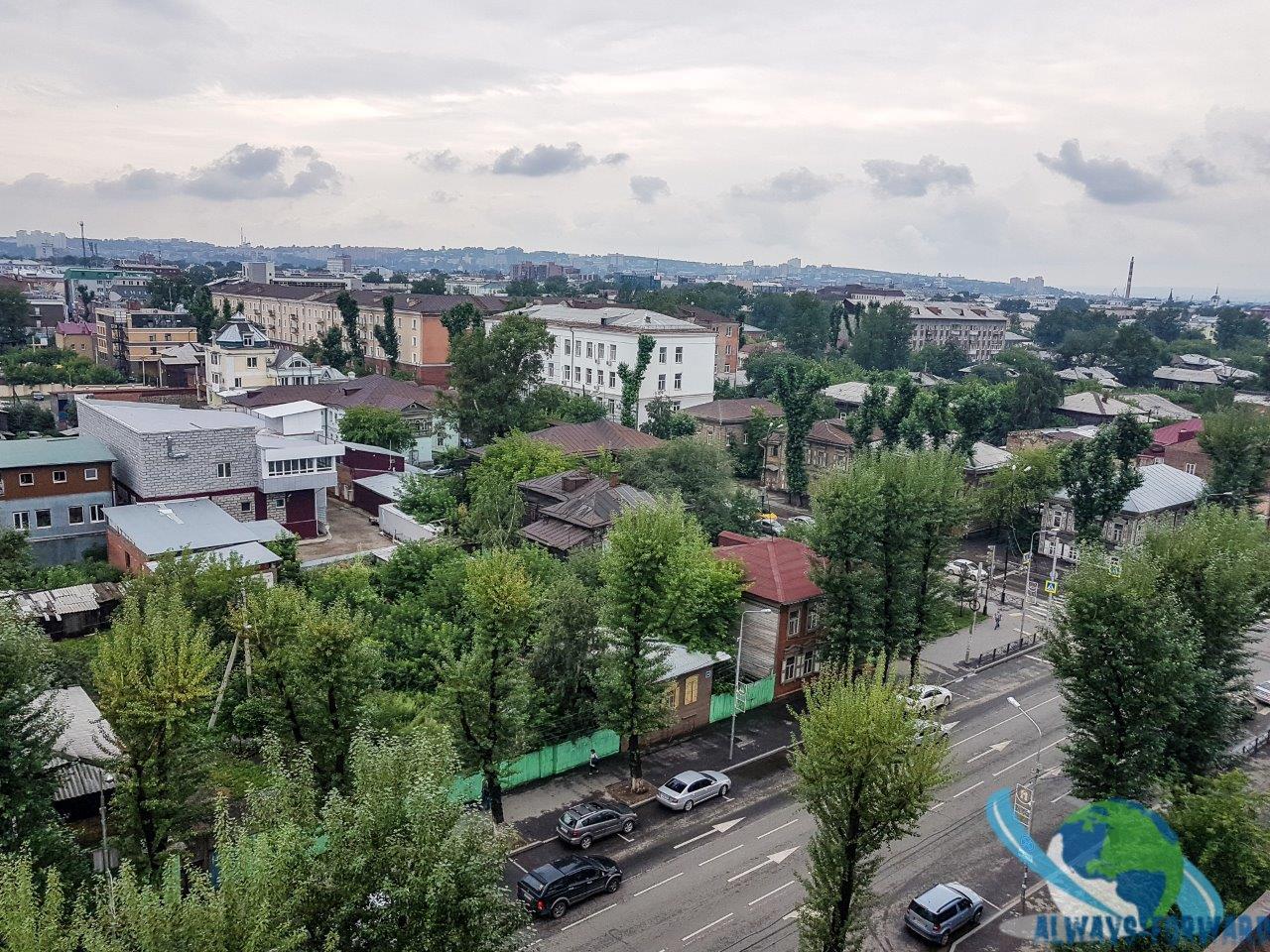 Aussicht vom Hostel auf Irkutsk