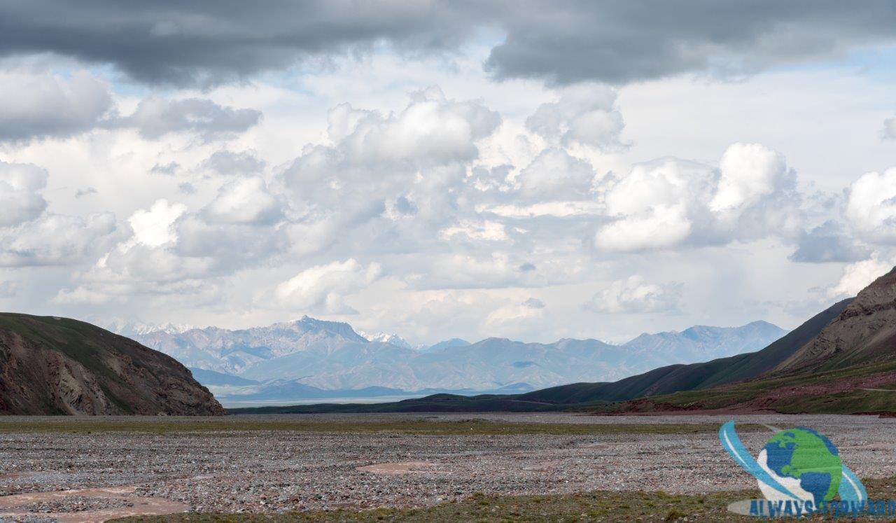 Blick zur Kirgisischen Grenze