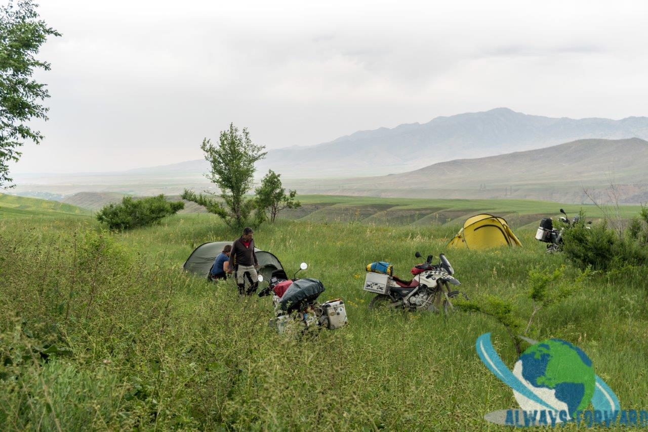 wild-campen in der Pampa