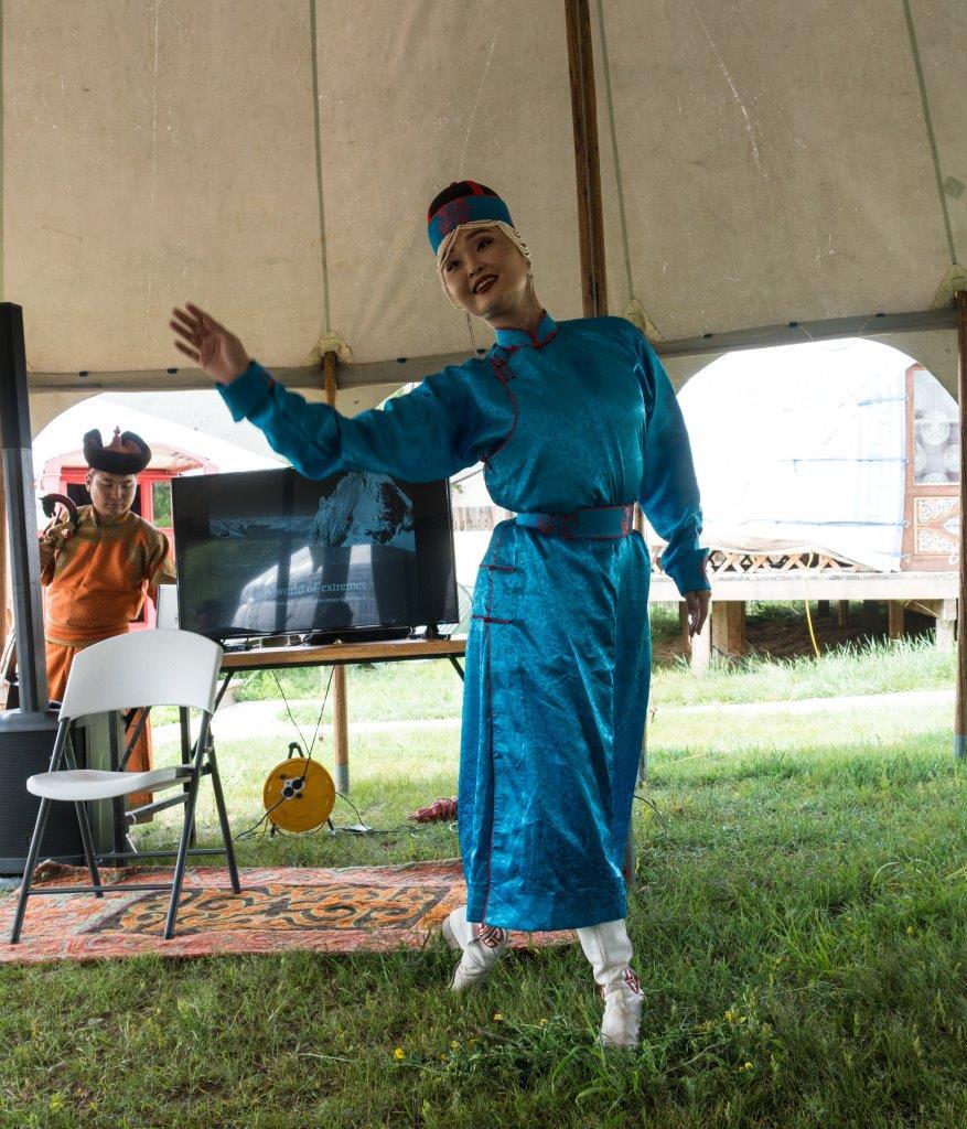 Mongolische Tänzerin