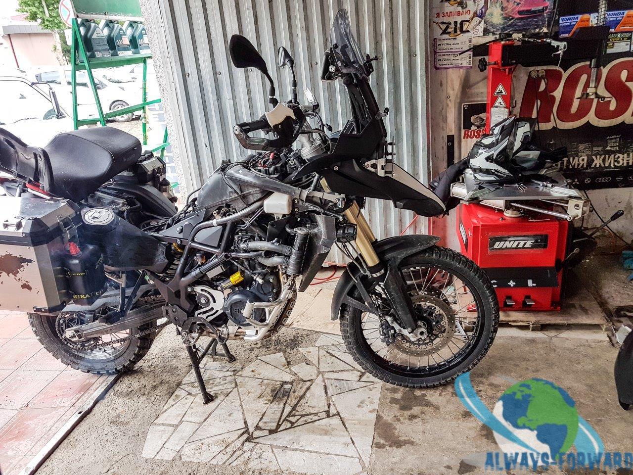 Service am Motorrad