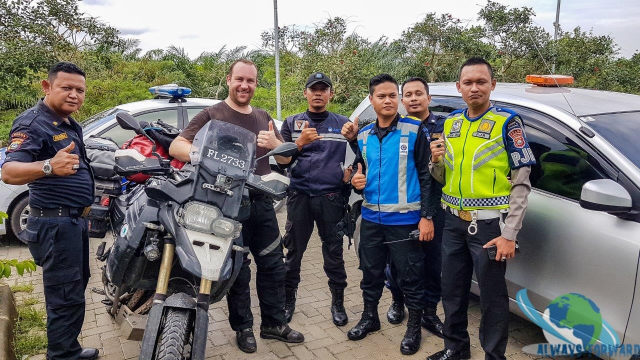 Foto mit der Polizei