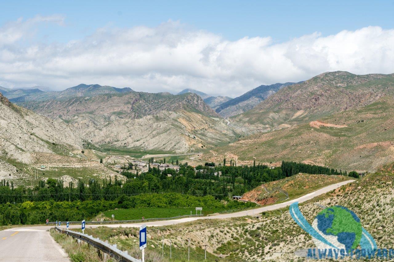 Richtung Grenze nach Asgabat