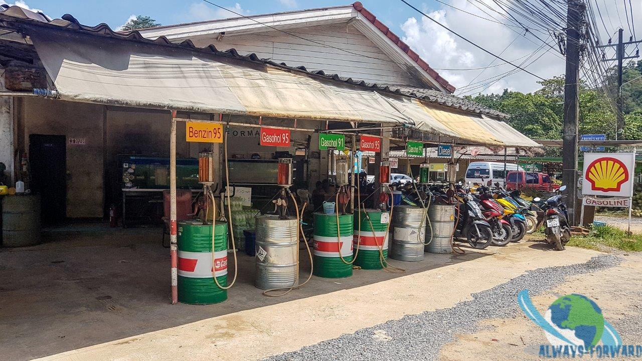 Tankstelle auf der Insel