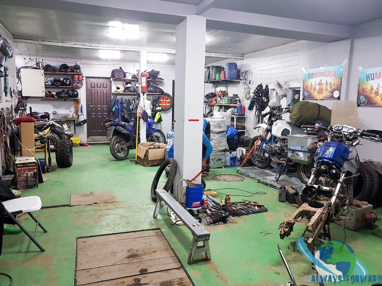 Die Werkstatt in der River Point Lodge