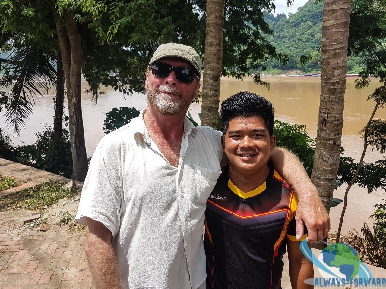 Stefan mit unserem Kapitän