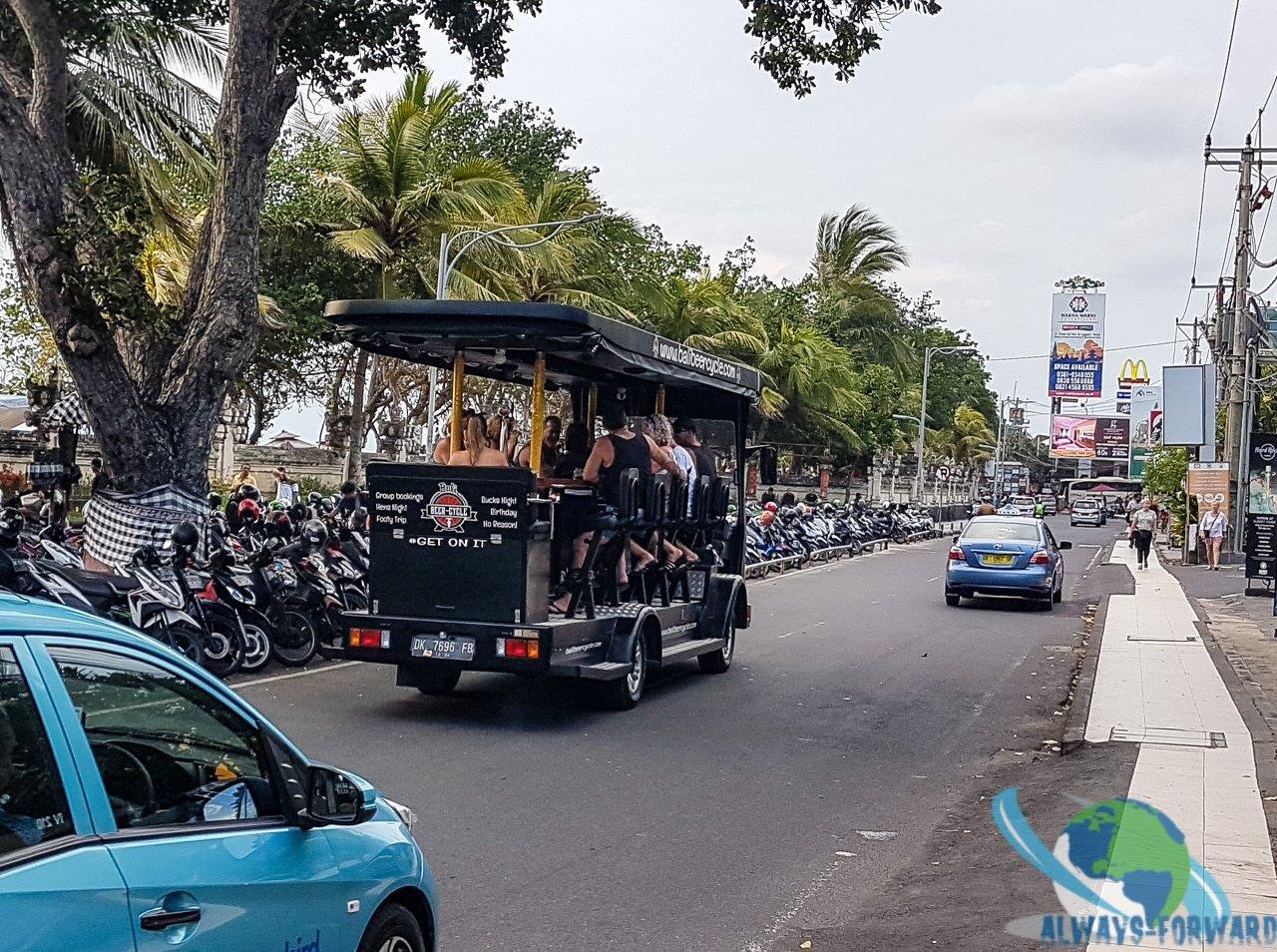 Bierwagen in Kuta
