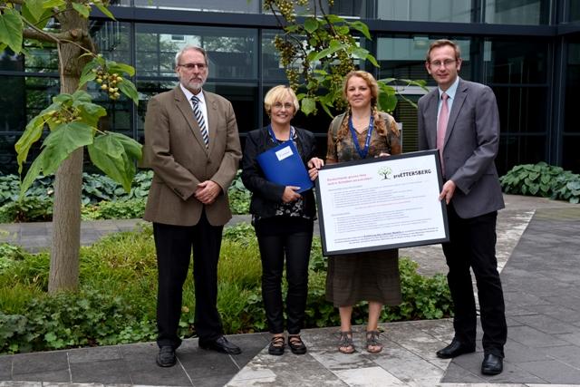 Übergabe der Petition der Bürgerinitiative Pro Ettersberg am 10.08.2017 an den Thüringer Landtag