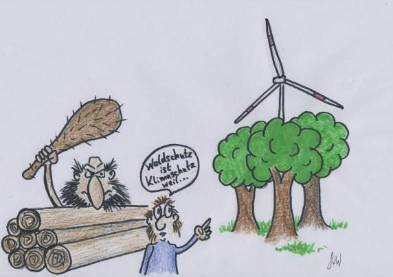 Propagandakeule gegen Kritiker der Windkraft im Wald