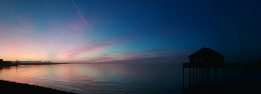 Sonnenuntergang auf dem Rückweg zum Auto