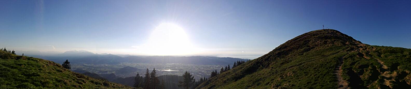 Gipfelsturm in der feinen Abendsonne