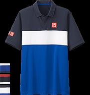 UNIQLO Kei Nishikori 2015 French Open Blue Polo Shirt