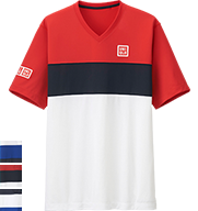 UNIQLO Kei Nishikori 2015 French Open Red Polo Shirt