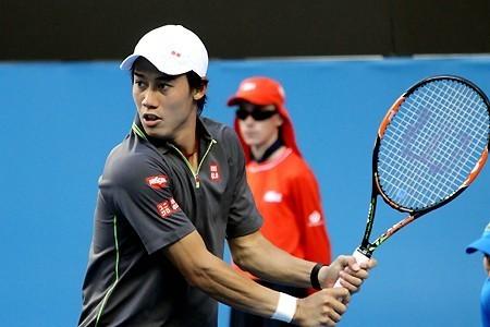 Kei Nishikori 2015 Australian Open Gray Polo Shirt