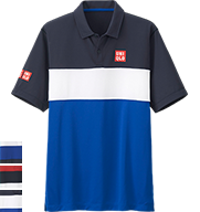 UNIQLO Kei Nishikori 2015 French Open Blue Polo Shirt