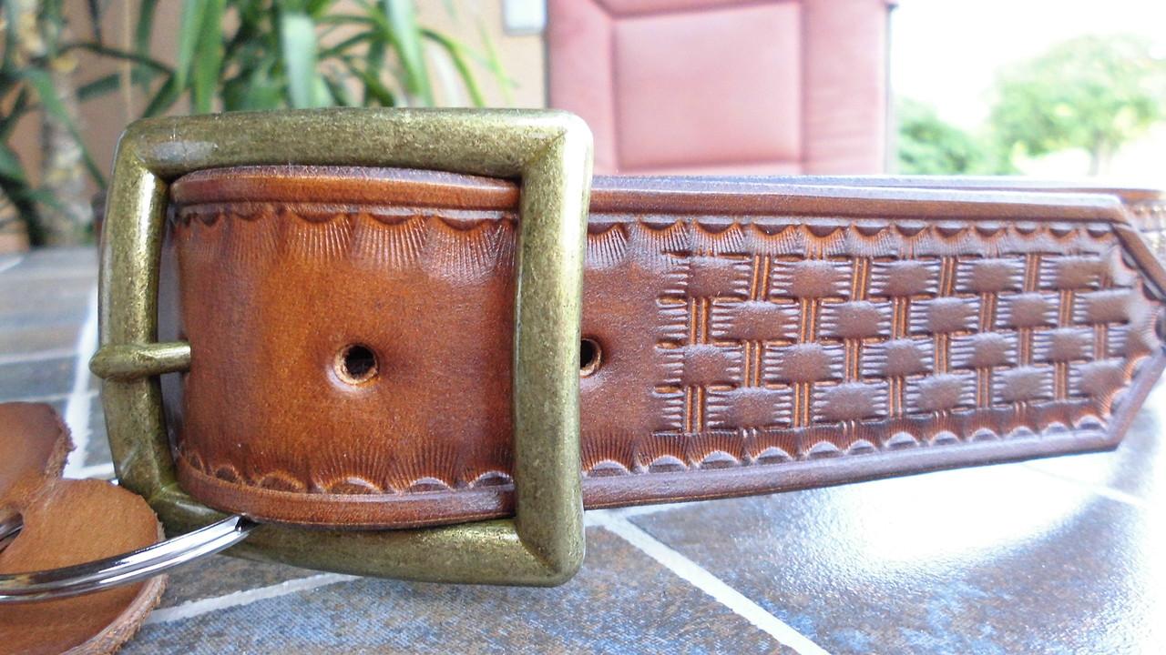 lederg rtel punziert olas lederthek lederg rtel hundehalsb nder lederarmband buckle. Black Bedroom Furniture Sets. Home Design Ideas