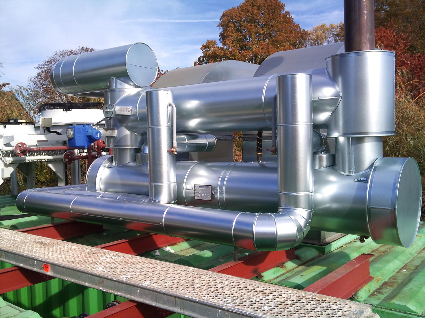 Wärmerückgewinnung einer Biogasanlage