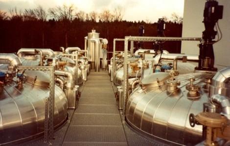 Tanklager in einer Chemiefabrik
