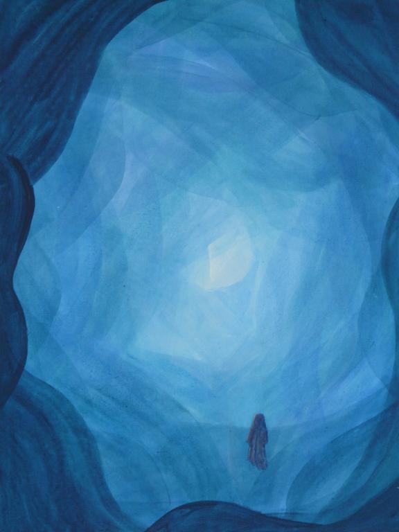 Blau auf blau - was entsteht? - Acryl auf Leinwand