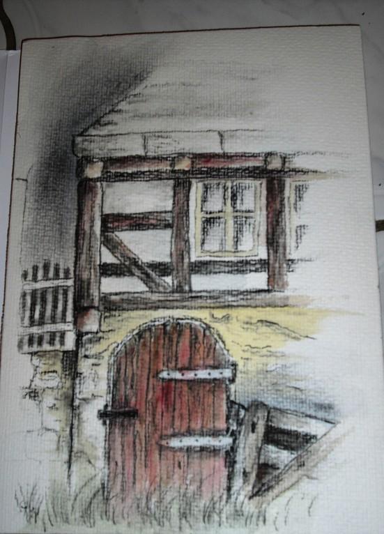 Detail (Kohle colloriert)