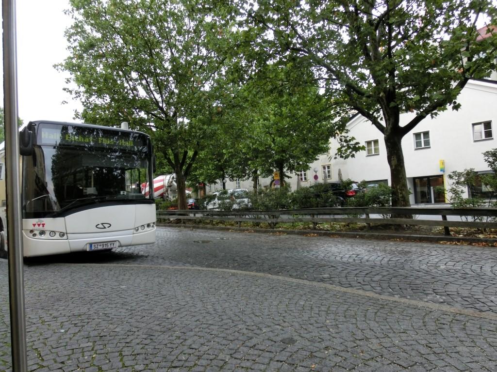 Von Hall nach Wattens mit dem Bus.