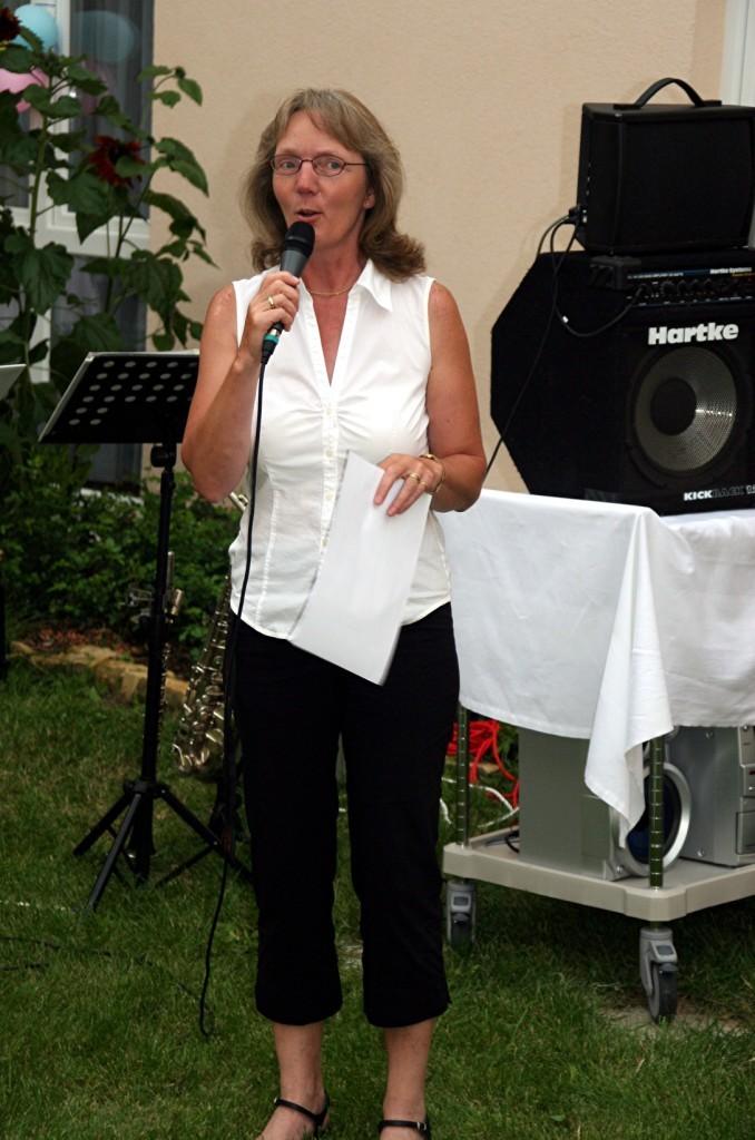 Moderatorin beim Sommerfest 2011