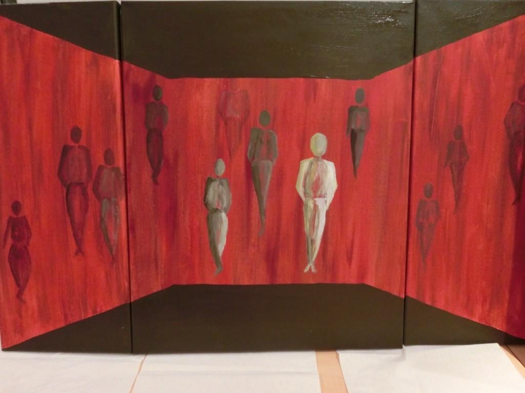 Unterwegs sein - Triptychon - Acryl auf Leinwand