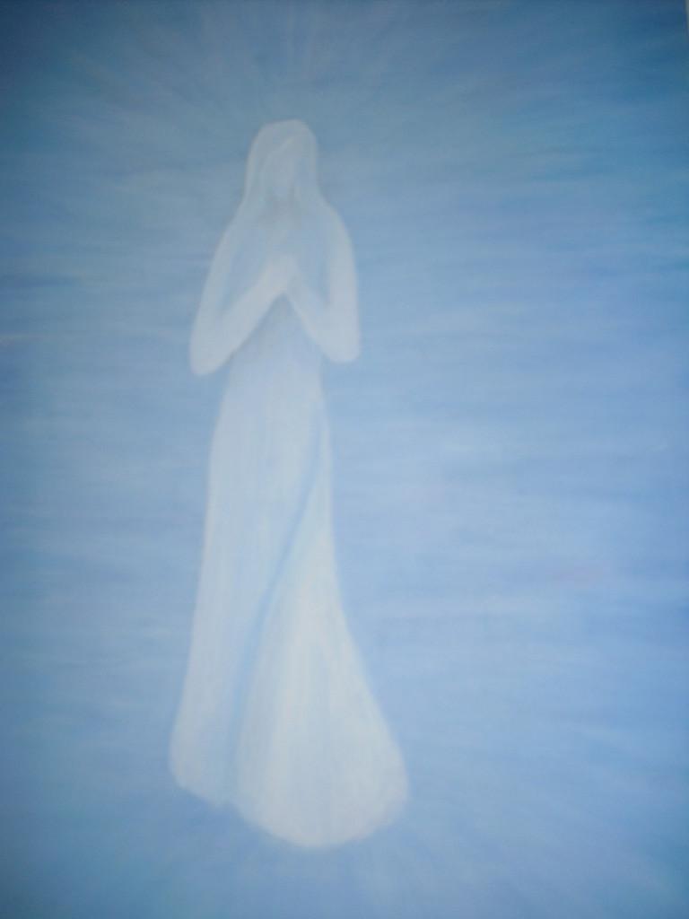 Weiße Lady - Acryl auf Leinwand