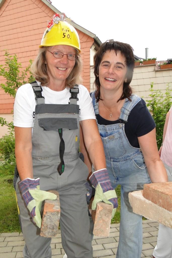 Als Handwerker beim Skulpturentag im Garten 2011