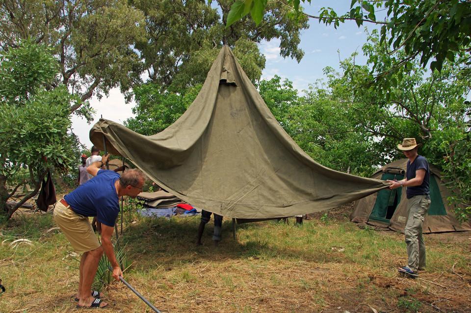 Camping im Okavangodelta