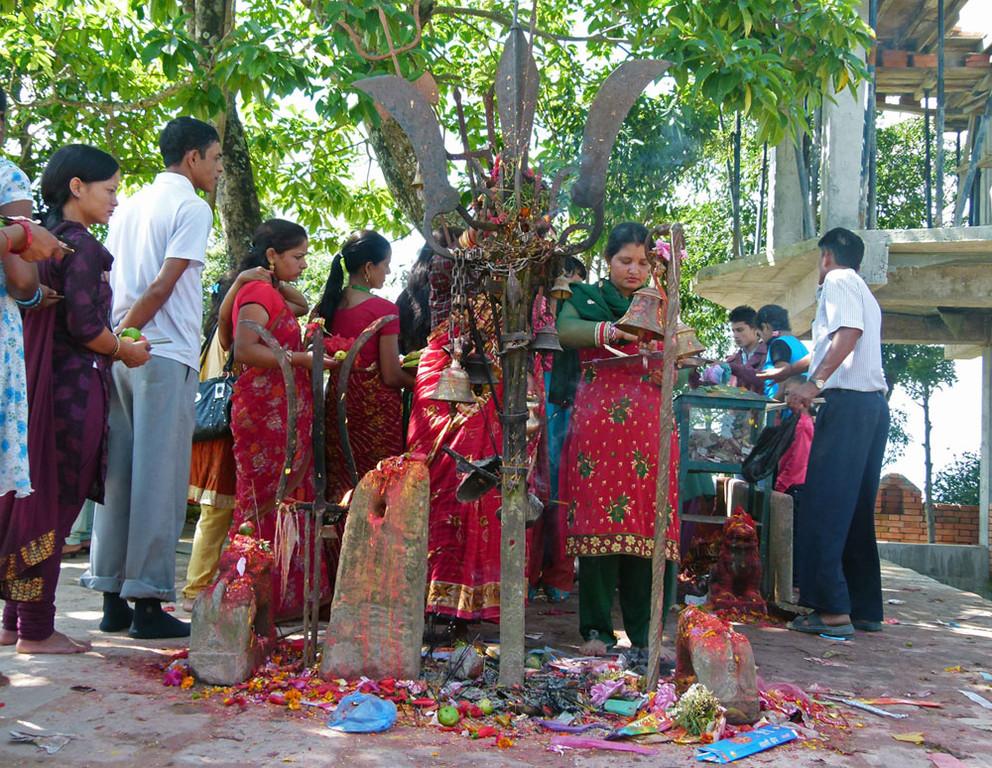 Opferungen am Kali-Tempel