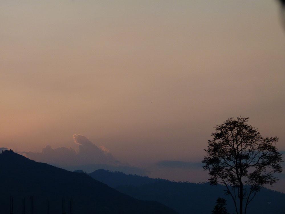 Dhulikhel, Sonnenuntergang