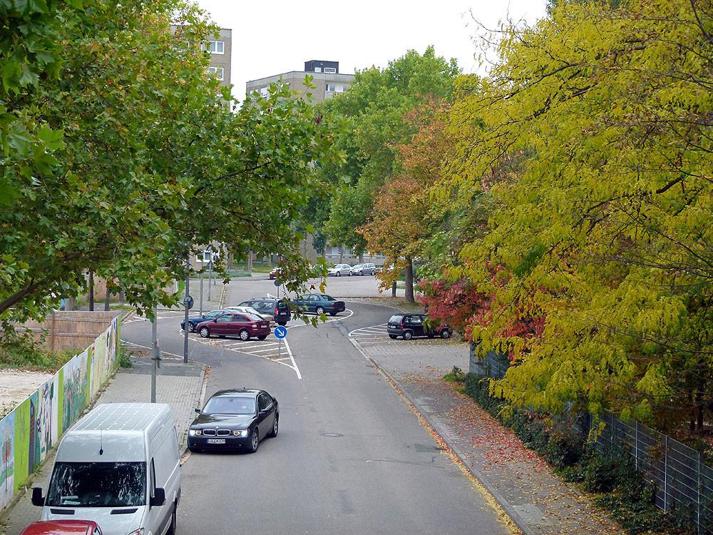 Blick von einer der Fußgängerbrücken