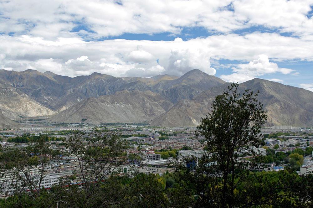 Potala Palast, Blick über Lhasa