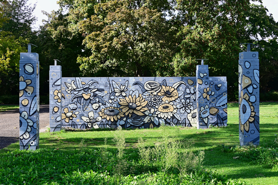 Ebert-Park, Murals ehemals Rosengarten