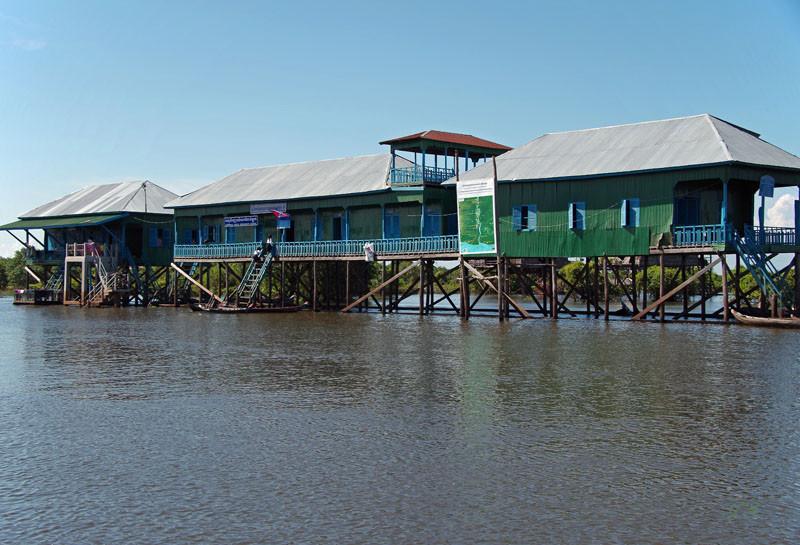 Bootsfahrt auf dem Tonle-Sap-See, Dorf Kampong Kleang