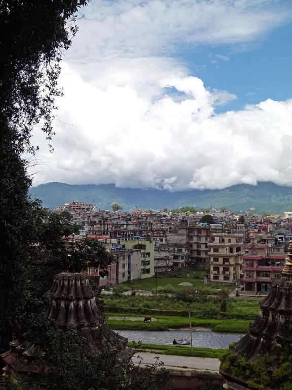 Blick vom Tempelberg nach Kathmandu