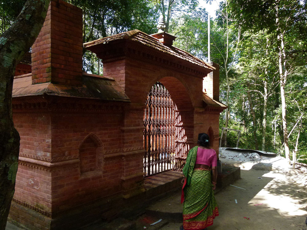 auf dem Weg zum Kali-Tempel