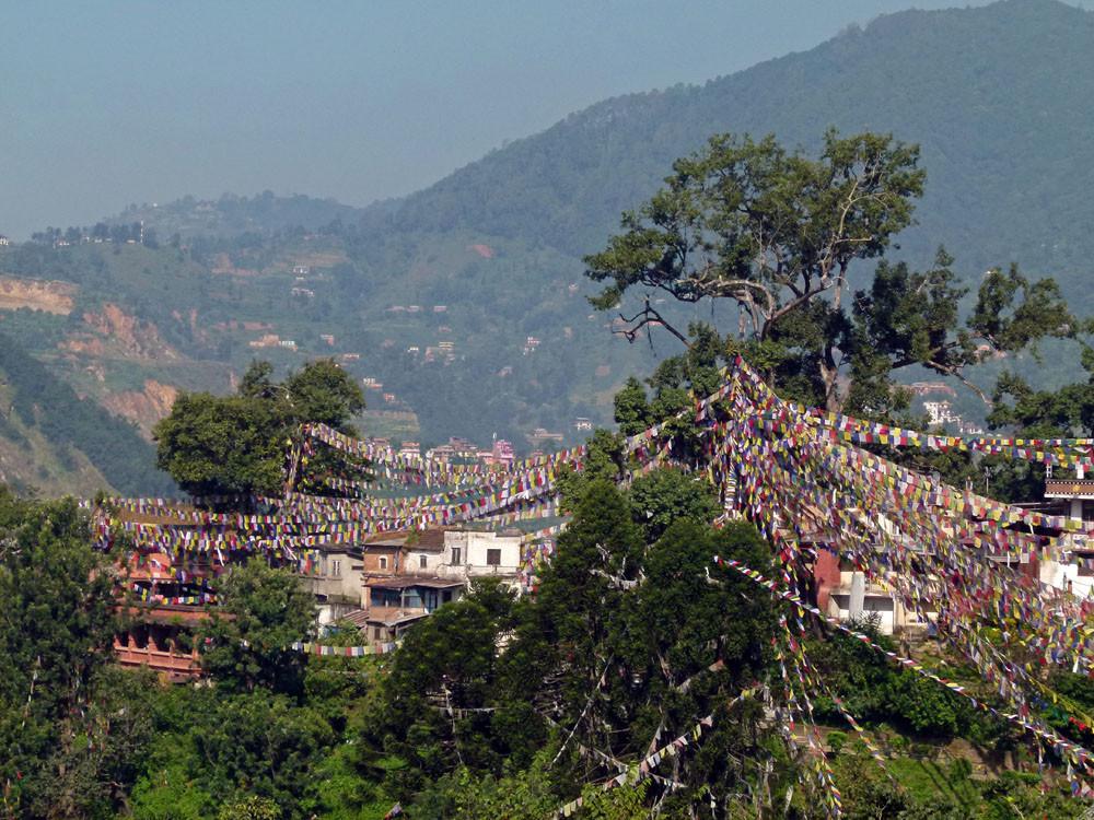 Kathmandu, Swayambhunath Tempel Talblick