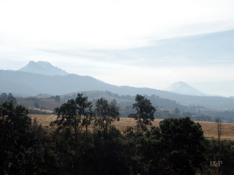 Vulkane Popokapatepetl und Izztaccihuatl