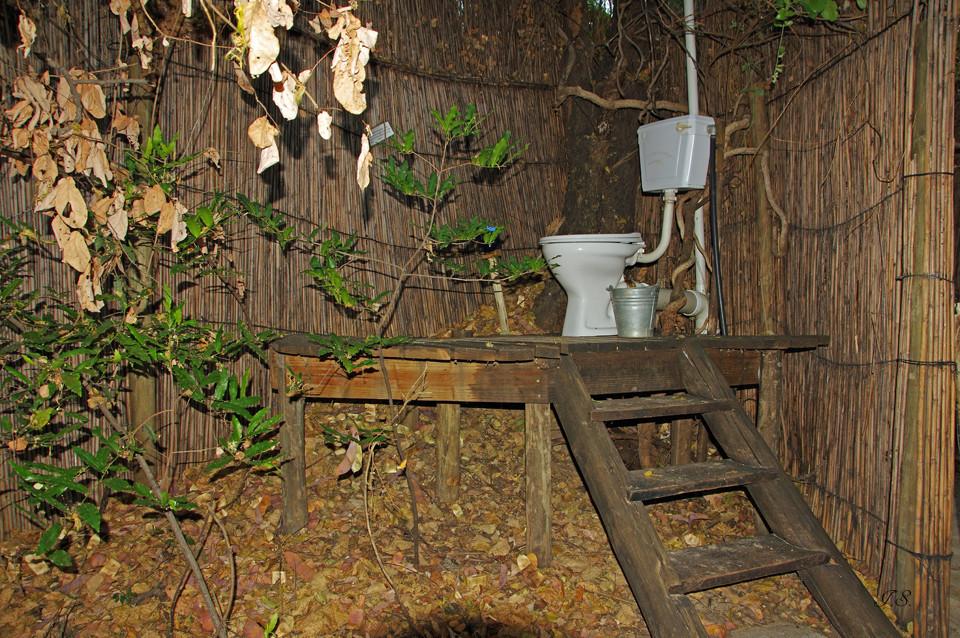 Ngepi-Camp, Sanitäranlagen