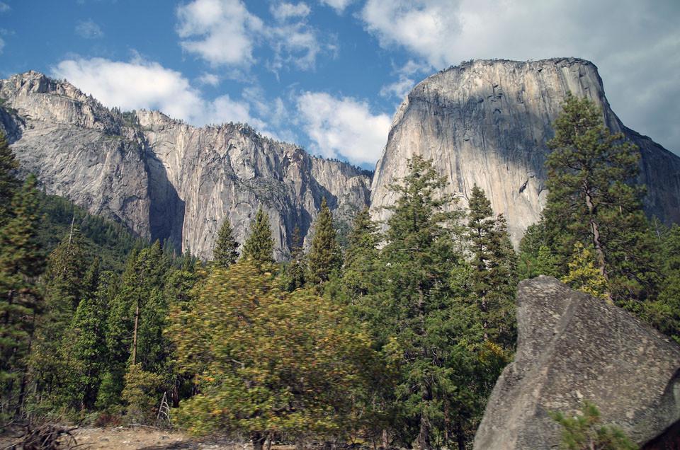 Rückfahrt durch Yosemite