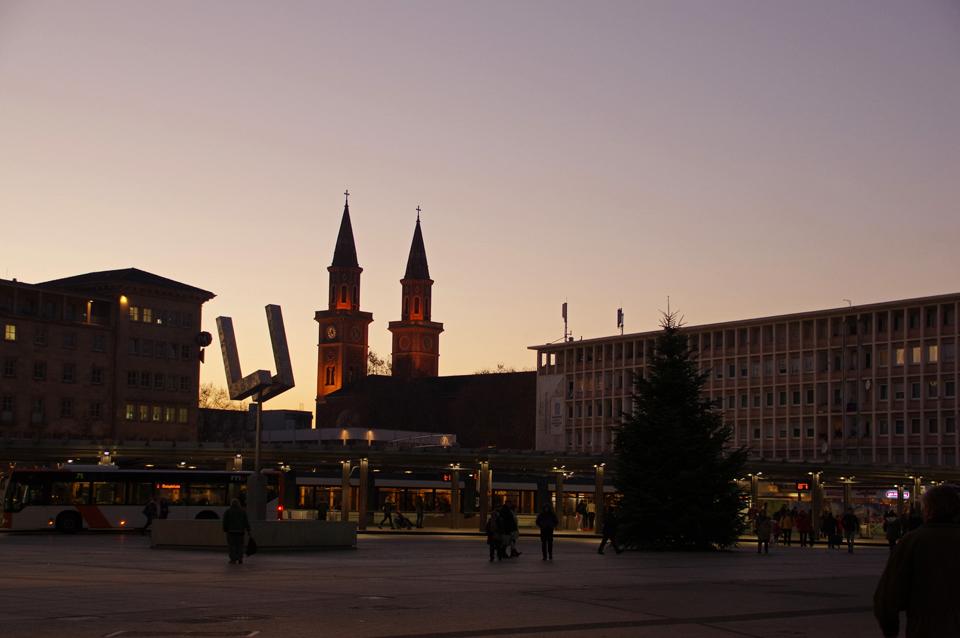 Berliner Platz heute - ohne Tortenschachtel