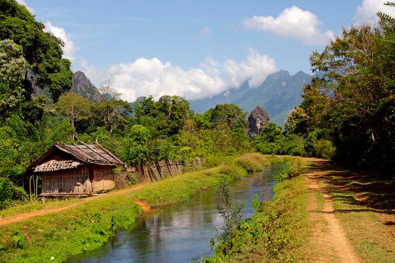 Wanderung am Nam Song
