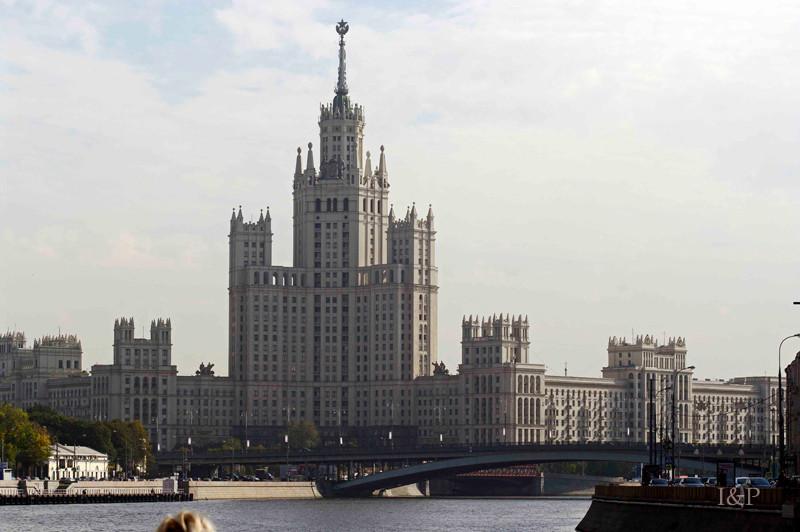 Moskau, Hochhaus aus der Stalin-Zeit